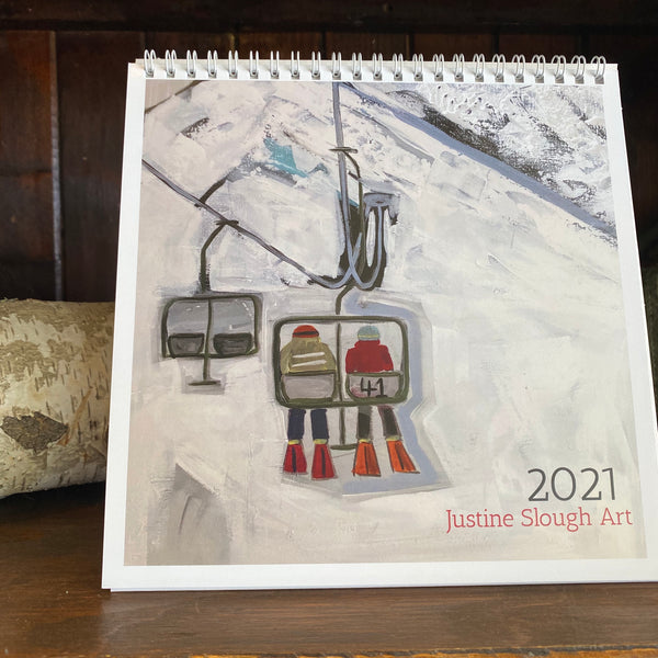 2021 ART CALENDAR by Justine Slough
