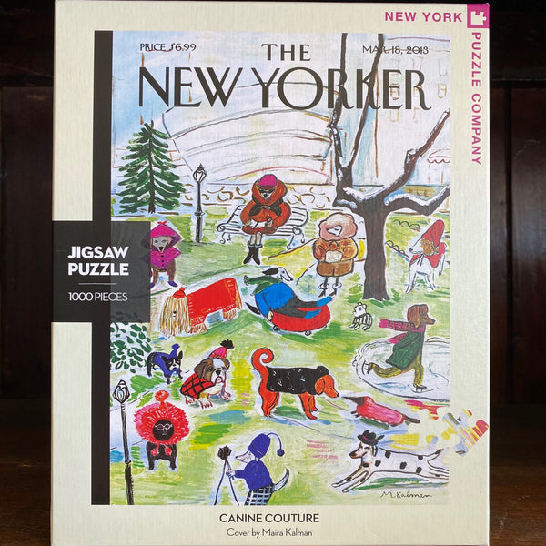 CANINE COUTURE - New York Puzzle Company 1000 pc JIGSAW