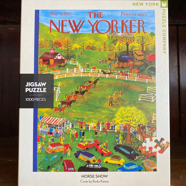 HORSE SHOW - New York Puzzle Company 1000 pc JIGSAW