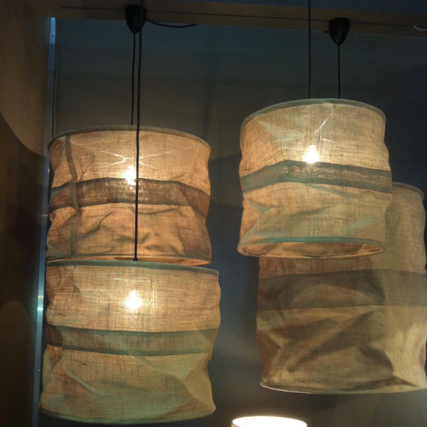 HESSIAN OVERHEAD CEILING LAMPS