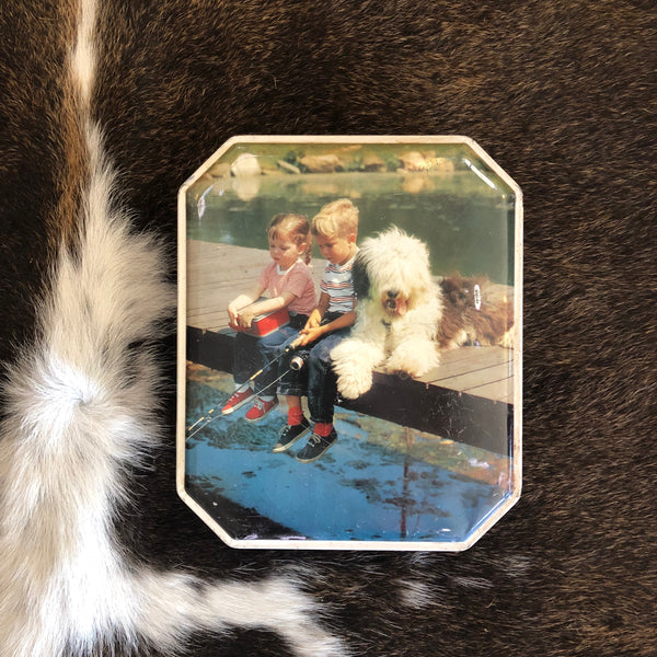 VINTAGE TINS - Kids with Old English Sheepdog BURTONS