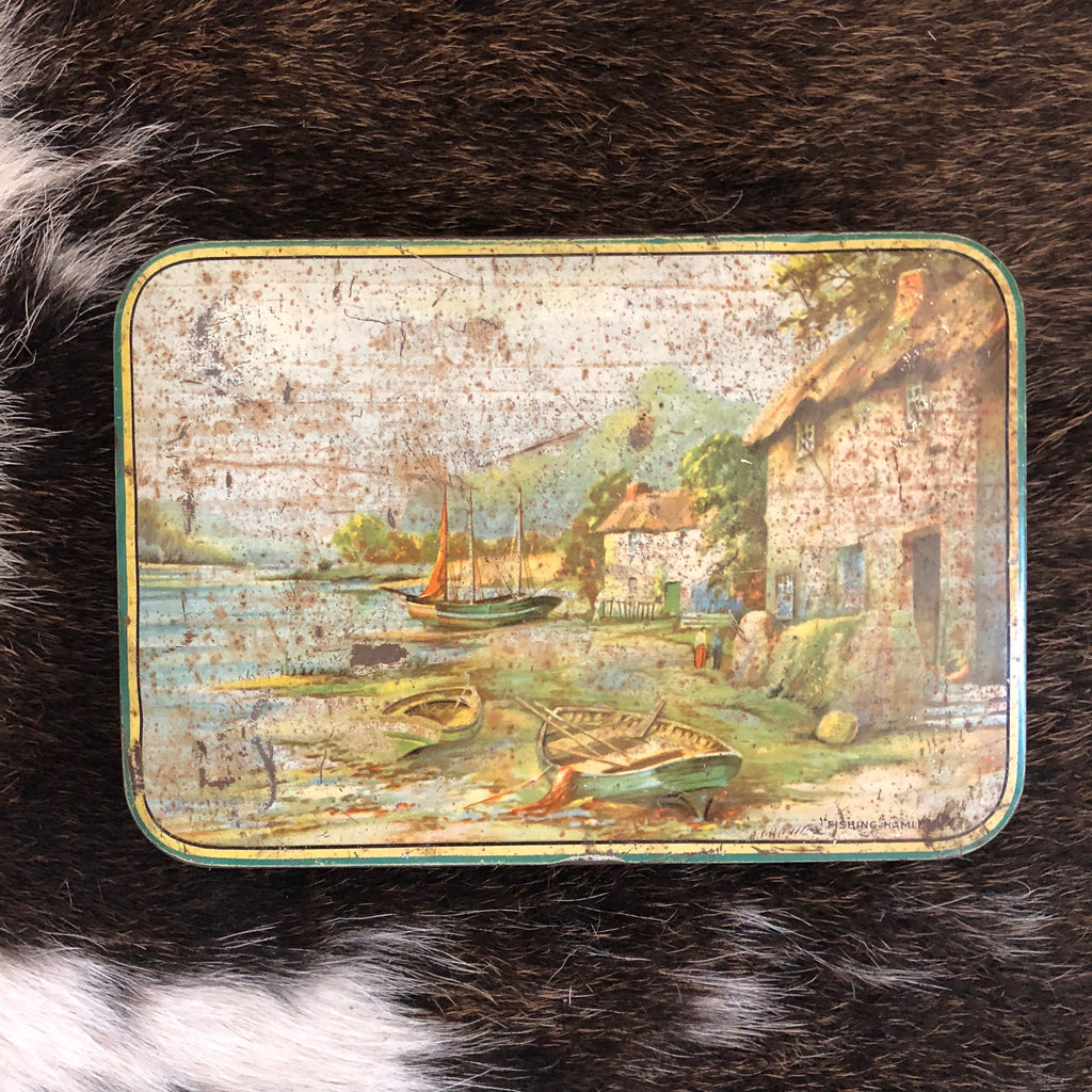 VINTAGE TINS - English sailboats SWEETACRES