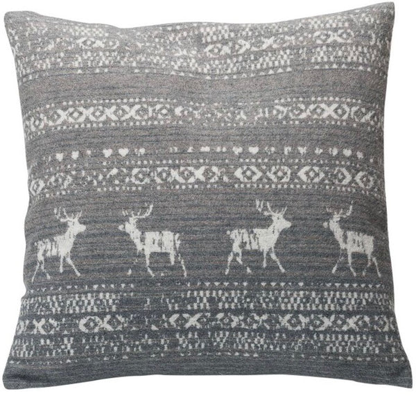 DAVID FUSSENEGGER- MONTANA ALPINE CUSHION- GREY 50CM X  50CM