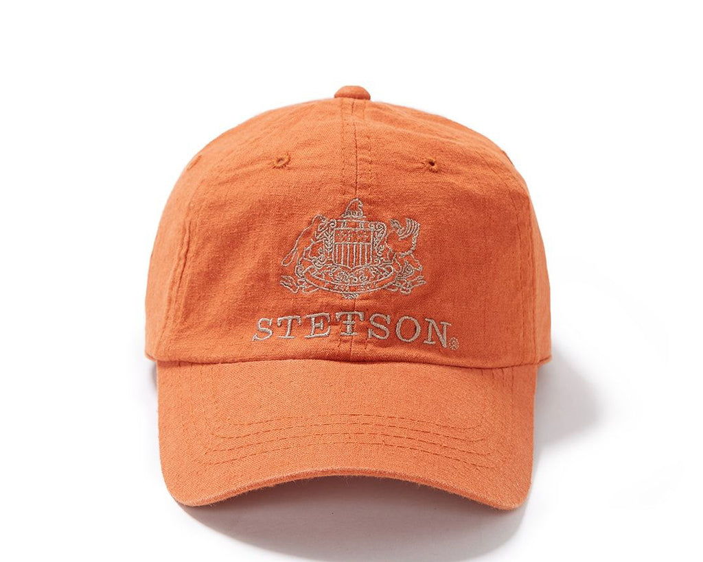 STETSON LINEN BALL CAP - ORANGE
