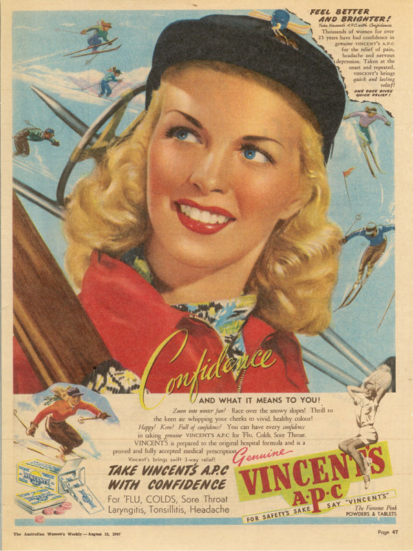 VINTAGE WOMENS WEEKLY VINCENTS Advertisement AUGUST 1949