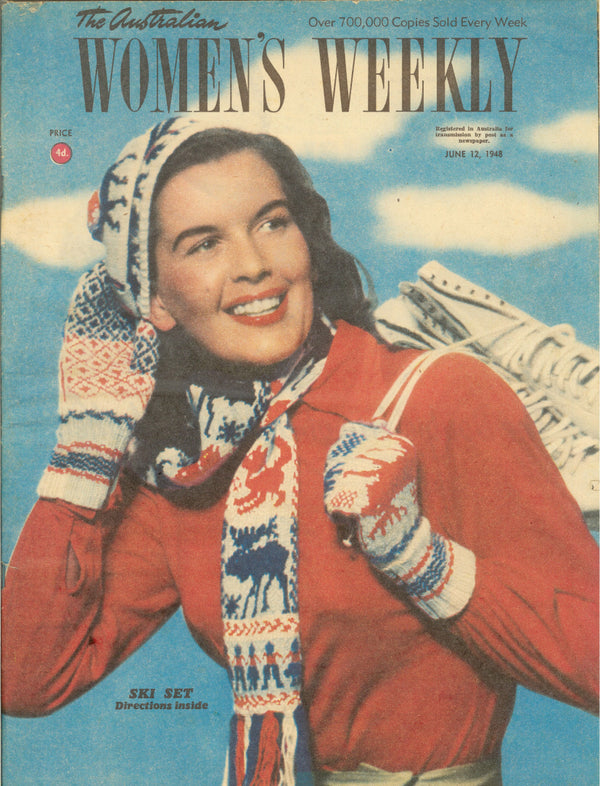 VINTAGE WOMENS WEEKLY Cover June 1948