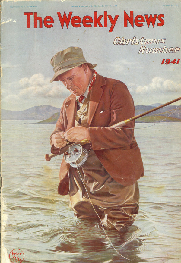 "VINTAGE ""The Weekly News"" NZ Cover FISHING 1941"
