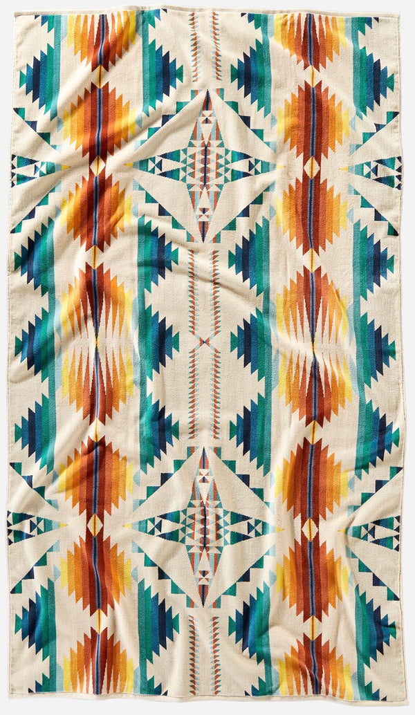 PENDLETON - OVERSIZED JACQUARD TOWEL -  Falcon Cove SUNSET