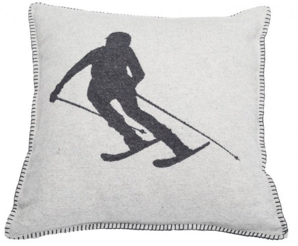 DAVID FUSSENEGGER-  SYLT skier cushion- Grey