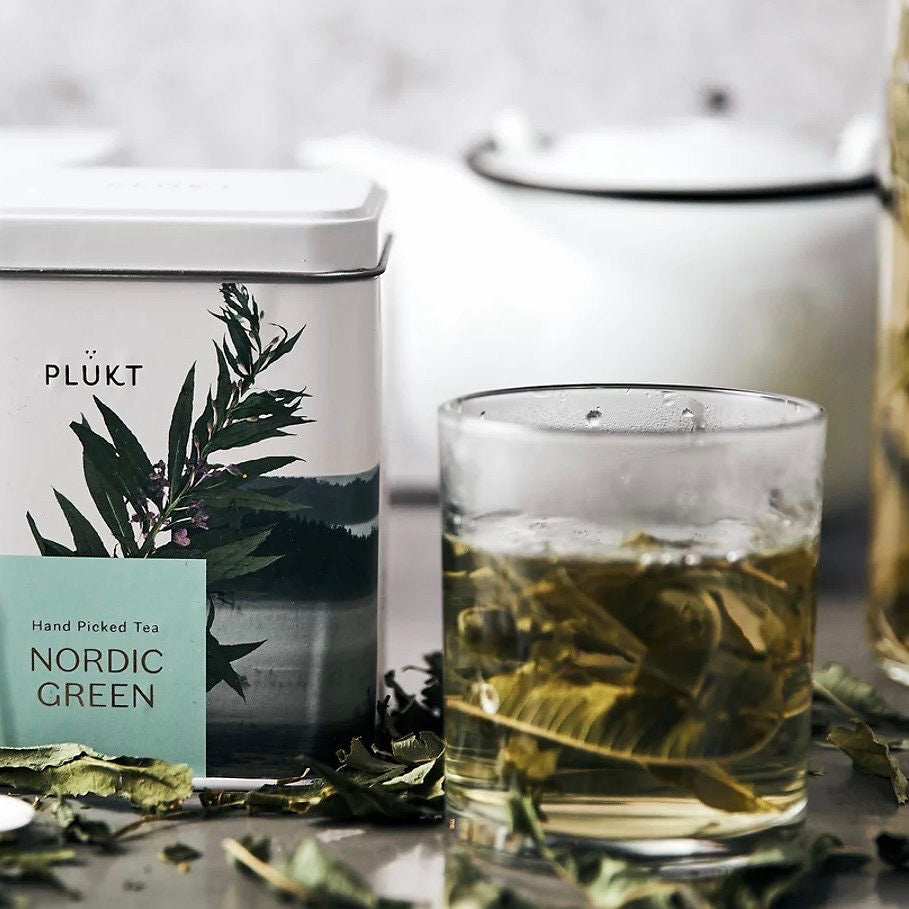 PLUKT - Organic Nordic Green Tea - 25 BAGS in TIN