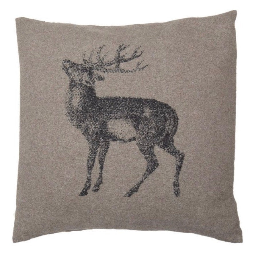 DAVID FUSSENEGGER - Red Deer Cushion - Smoke