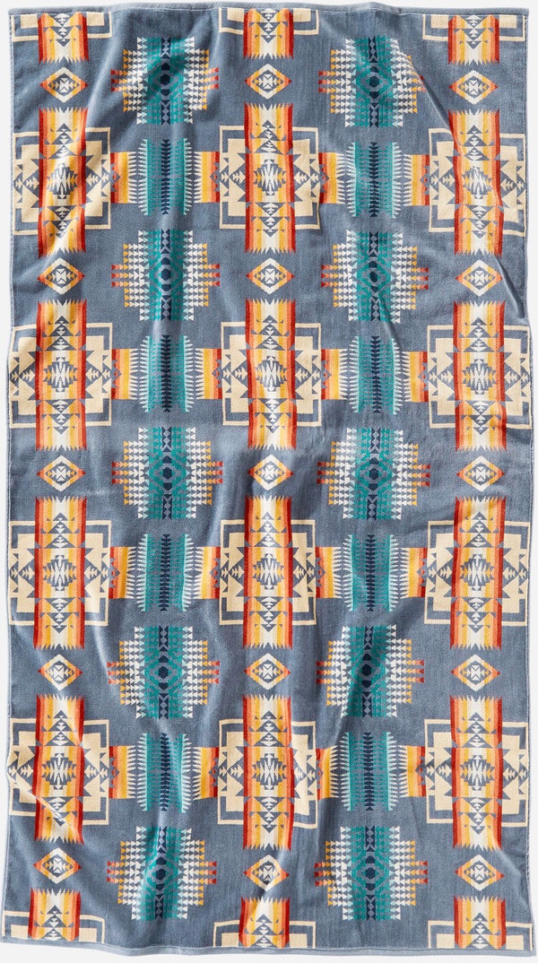 PENDLETON - OVERSIZED JACQUARD TOWEL -  Chief Joseph SLATE