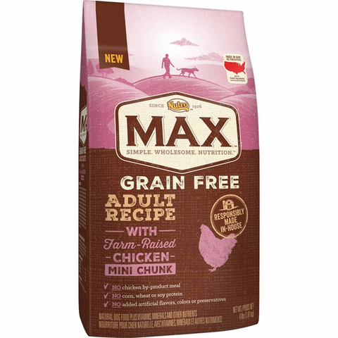 NUTRO MAX Grain Free Recipe With Farm Raised Chicken Mini Chunk Dry Adult Dog Food 4 lbs - COMING SOON