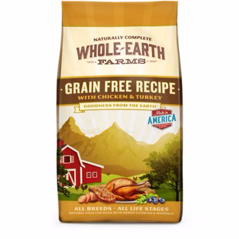Whole Earth Farms Grain Free Chicken Turkey Dog Food 4 lbs - COMING SOON