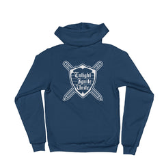 U4SC Signature Coat of Arms (White) -- Fleece Hoodie