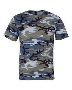 Code Five - Blue Woodland - Adult Camo Tee