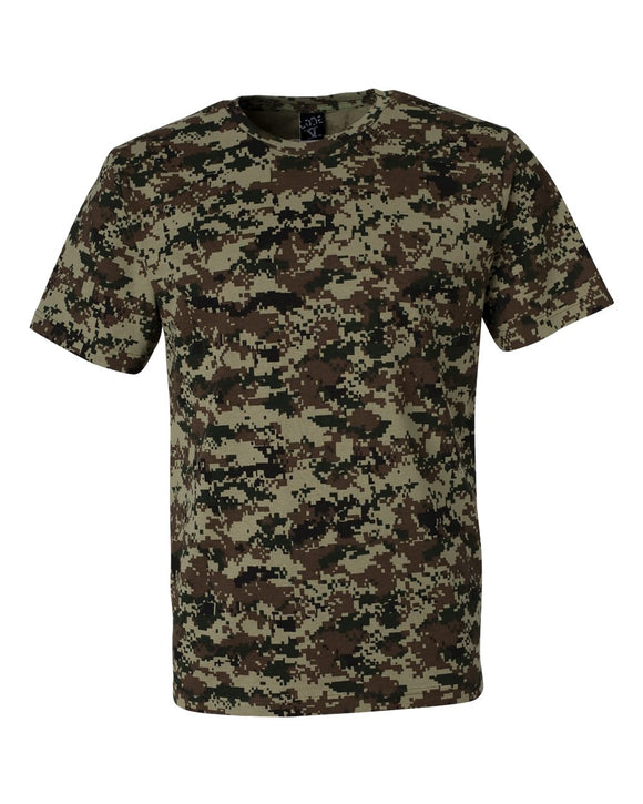 Code Five - Green Digital - Adult Camo Tee