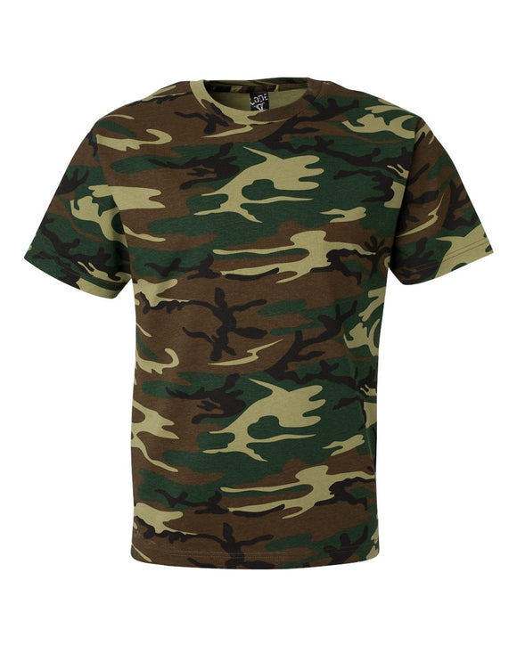 Code Five - Green Woodland - Adult Camo Tee