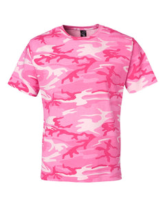 Code Five - Pink Woodland - Adult Camo Tee