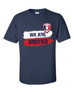 Men's We Are United Short Sleeve Navy Tee with Logo