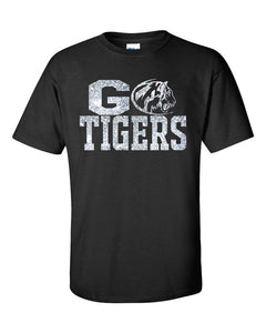 Go Tigers Glitter Eisenhower Design Cotton Women's Tee Shirt