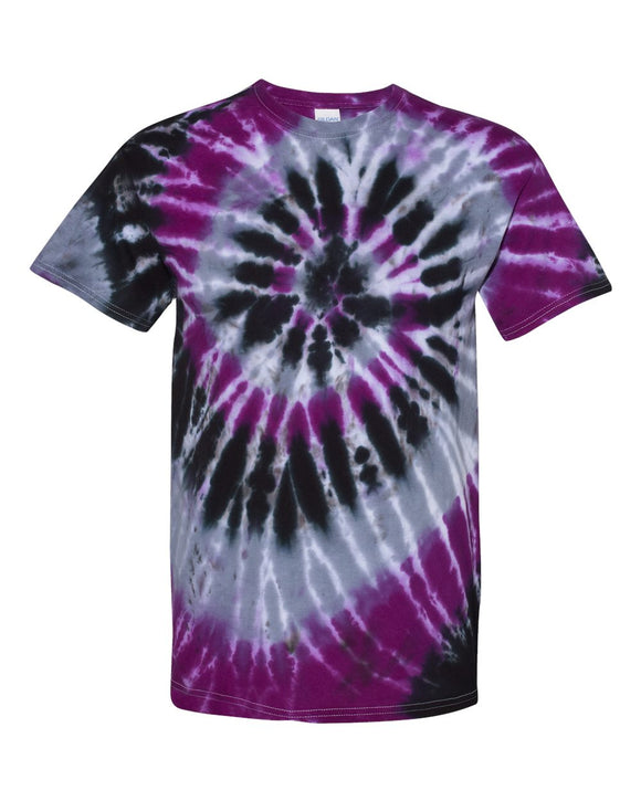 Dyenomite - Nightmare - Multi-Color Spiral Short Sleeve Tie Dye T-Shirt