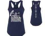 Custom Personalized Cheer Mom Glitter Womens Tank Top Support Your Team with this amazing spirit wear