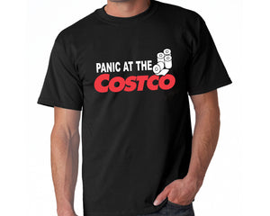 Panic At the Cosco Funny Coronavirus Survivor Unisex Tee Shirt