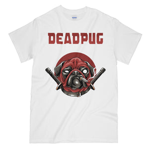 3271d6af Very Funny Deadpool Pug White Graphic Tee Shirt - Deadpug ...
