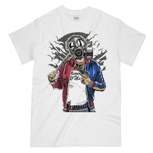 Harley Quinn Gas Mask Killer Funny White Graphic Tee Shirt - Suicide Squad
