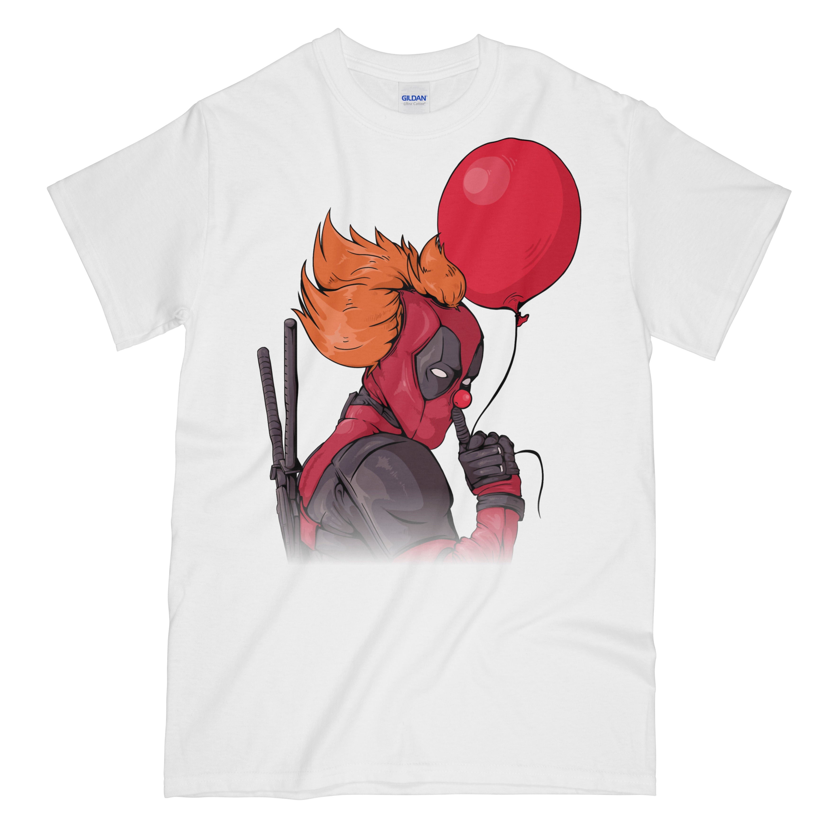 dbb7692c IT is Deadpool Funny White Graphic Tee Shirt - Pennywise Deadpool Mash –  ShirtLockerTees