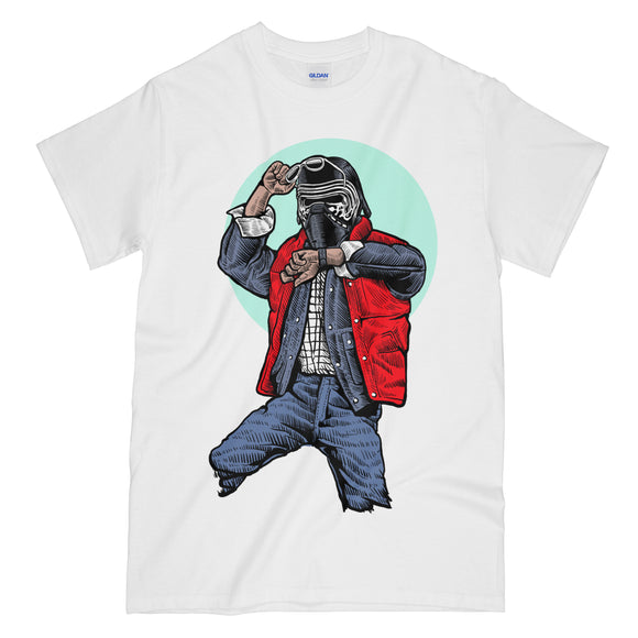 Kylo McFly Funny White Graphic Tee Shirt - Back to the Future Star Wars Mashup