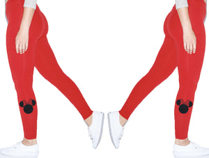 Disney Minnie Ears American Apparel Spandex Jersey Leggings Perfect for Vacation