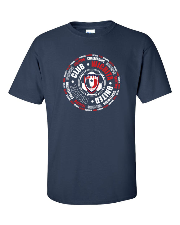Men's Wichita United Short Sleeve Navy Tee With Circle Design