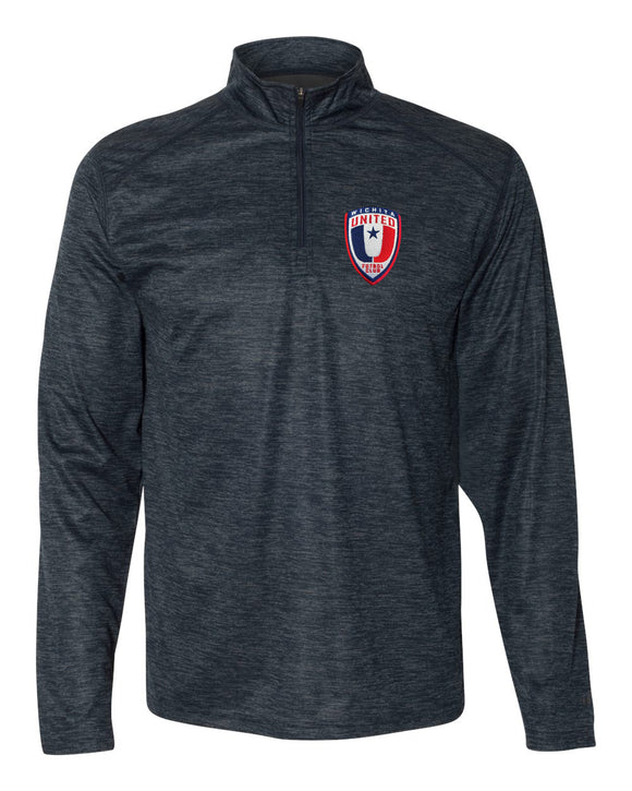 Wichita United Navy Tonal Men's Quarter Zip Pullover