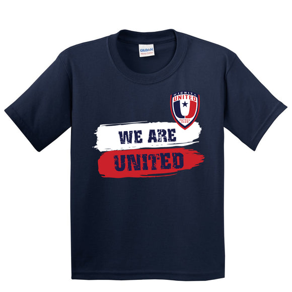 Youth Navy We Are United Cotton Tee Shirt