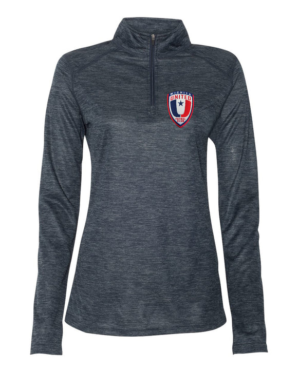 Wichita United Navy Tonal Women's Quarter Zip Pullover
