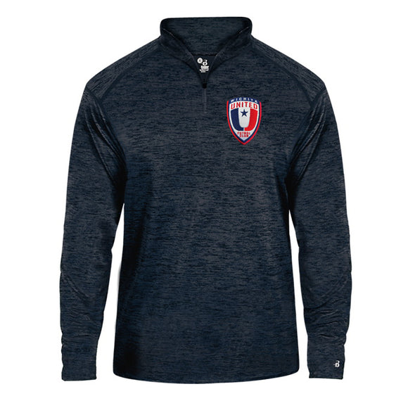 Youth Wichita United Navy Tonal Quarter Zip Pullover