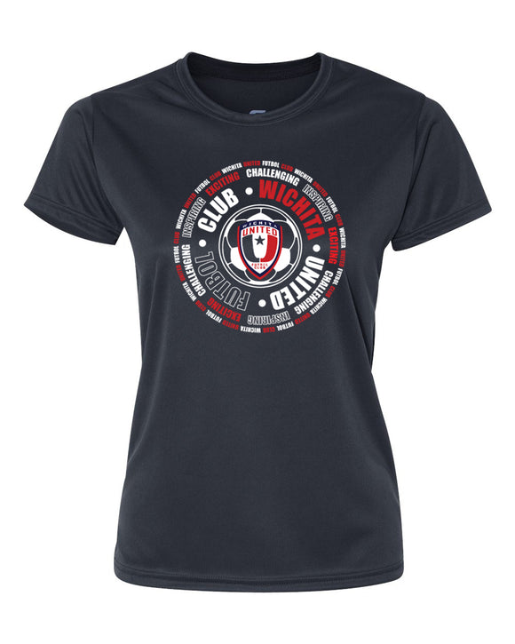 Cool Dri NAVY WICHITA UNITED CIRCLE CLUB WOMEN'S Performance CREW NECK SHIRT