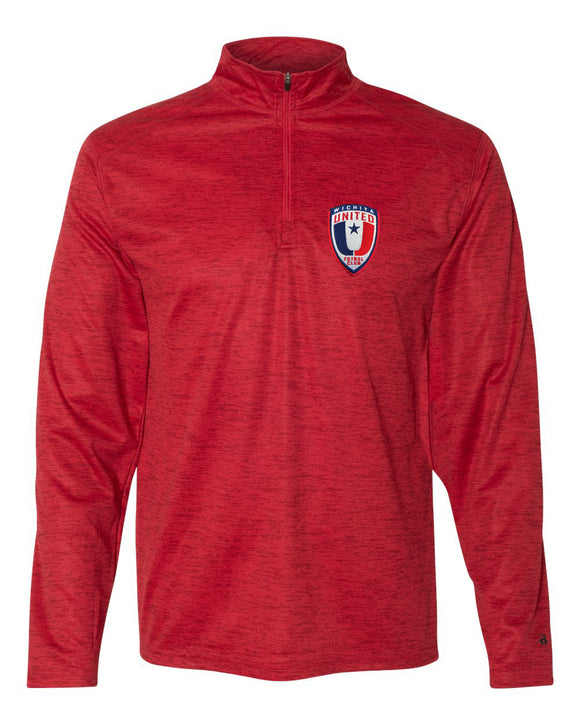 Wichita United Red Tonal Men's Quarter Zip Pullover