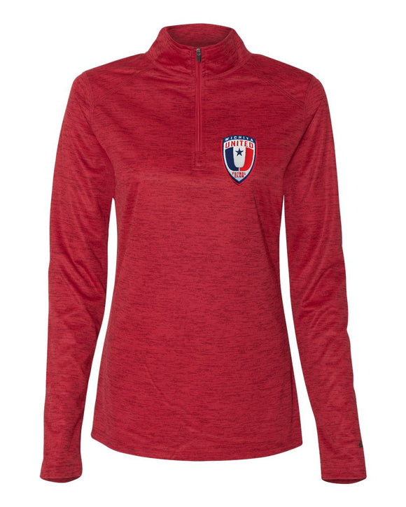 Wichita United Red Tonal Women's Quarter Zip Pullover