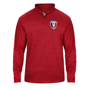 Youth Wichita United Red Tonal Quarter Zip Pullover