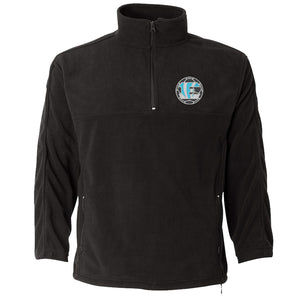 Eisenhower Tigers Embroidered Soccer Logo On A Men's Quarter-Zip Black Fleece