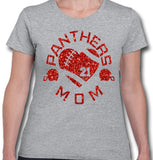 Personalized Glitter Football Mom with Team Name Spirit Wear Womens Shirt