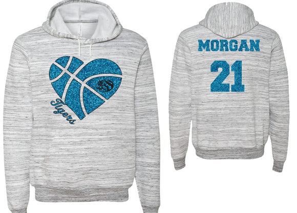Eisenhower Basketball Personalized Hooded Sweatshirt with the Tigers Logo