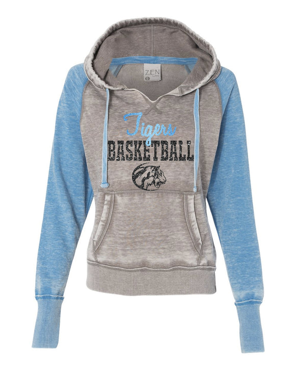 Eisenhower Tigers Basketball Zen Raglan hooded Sweatshirt