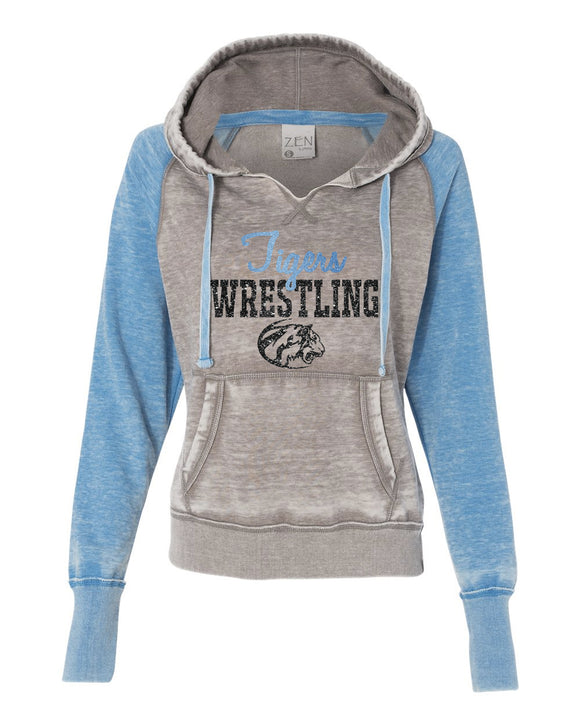 Eisenhower Tigers Wrestling Zen Raglan hooded Sweatshirt