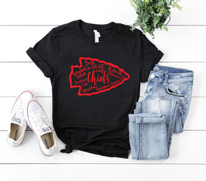 Cute Chiefs Graphic Tee Shirt Kansas City Proud Kingdom