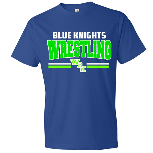 Blue Knights Wrestling Unisex Tee Shirt Soft and Comfy- Royal