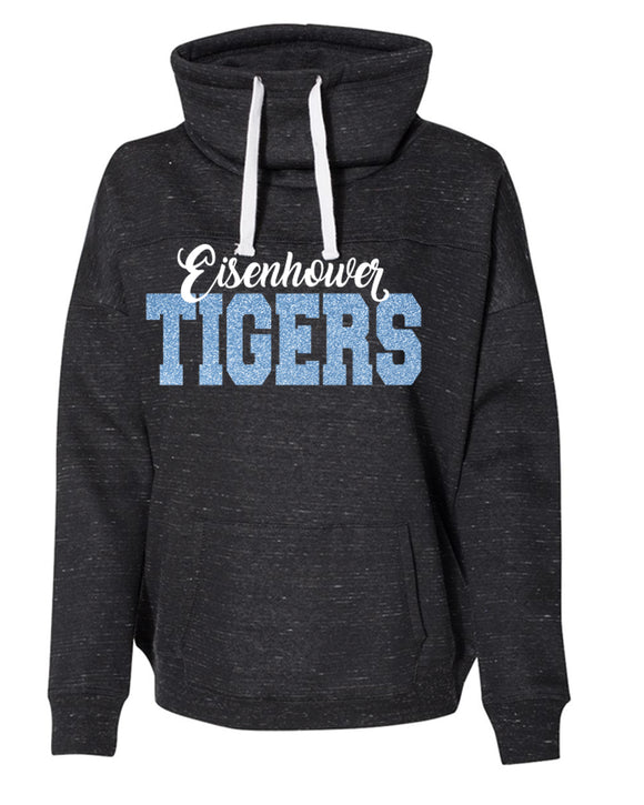 Eisenhower Tigers Premium Cowl Neck Sweatshirt